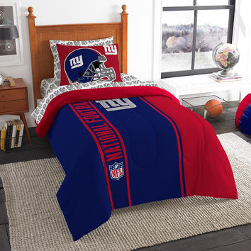 New York Giants NFL Twin Comforter Bed in a Bag (Soft & Cozy) (64in x 86in)