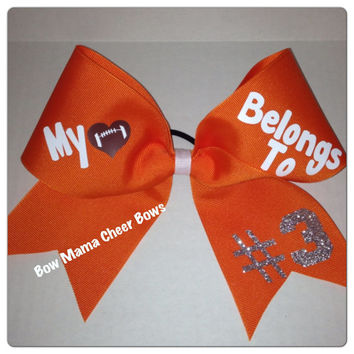 Cheer Bow - My Heart Belongs To . . .