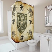 griffins with shield shower curtain