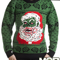 Zombie Santa Claus Christmas Pullover Sweater