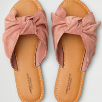 AEO Oversized Bow Slide Sandal, Rose
