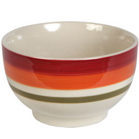 "Bulk Fall Tricolor Striped Stoneware Bowls, 5½"" at DollarTree.com"