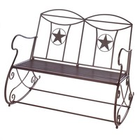 Lone Star Outdoor Rocking Bench