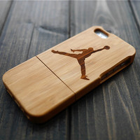 Dark Bamboo Jordan Wood iPhone 5 5s Case , Wood Phone Case for iPhone 5 5s , Custom Wood iPhone 5 5s Case , Christmas Gift for Dad and him