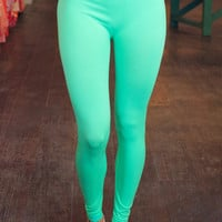It's a Good Day Leggings - Mint