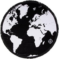 "Round Beach Towel - ""Voyage Around The World"""