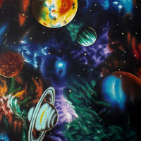 Outer Space Fabric Galaxy Fabric Solar System Fabric Quilting Fabric Curtain Fabric Pillow Fabric Cotton Fabric