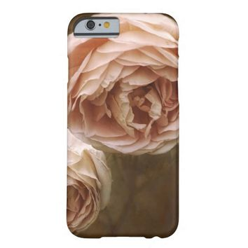 pretty soft pink rose photo art barely there iPhone 6 case