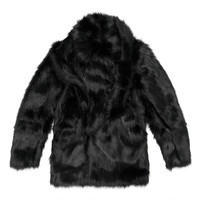 Membrance Fur Coat - Black