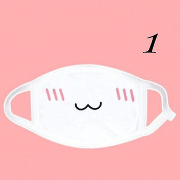Kaomoji-kun Face Masks Emotiction mouth-muffle Kawaii Winter Anti-Dust Mask HU