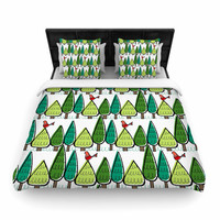 """Holly Helgeson """"Vintage Christmas"""" Holiday Pattern Woven Duvet Cover"""