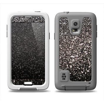 The Black Unfocused Sparkle Samsung Galaxy S5 LifeProof Fre Case Skin Set