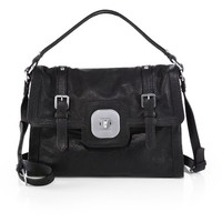 Longchamp GatsbyLizard-Embossed Leather Satchel