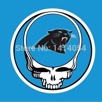 Carolina Panthers Stealing Your Face Flag 150X90CM Banner 100D Polyester flag brass grommets 001, free shipping