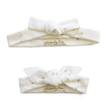 Set of Two Stars in the Zodiac Constellations Organic Stretch Knit Head Tie For Mom & Baby