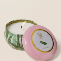 Palm Leaves Coconut Lime Candle Tin