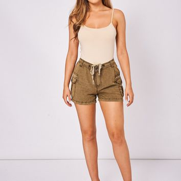 Khaki Casual Shorts