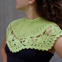 Tender Shoots Lacy Fashion hand crocheted wedding perelin in cotton yarn