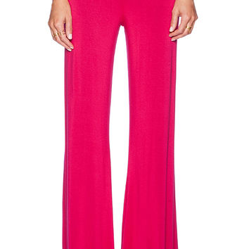 Michael Lauren Derby Wide Leg Pant in Pink