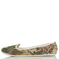 TRUDI Tapestry Slippers - View All - Shoes - Topshop USA