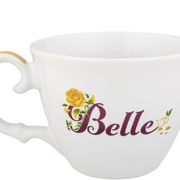 Disney Parks Belle Adventurous & Brave Teacup Beauty And The Beast Mug New