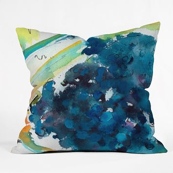 Ginette Fine Art Blueberries Throw Pillow