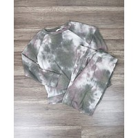 Tie Dye Print Sleep Lounge Wear Set - More Colors