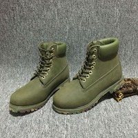 ESBBE6 Timberland Rhubarb Boots 10061 Camouflage  Waterproof Martin Boots