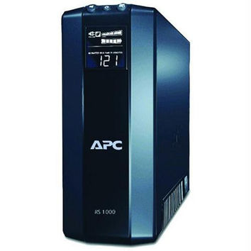 APC BR1000G Power Saving Back UPS RS System (Output Power Capacity: 1,000VA/600W; 8 outlets--4 UPS/Surge, 4 Surge only)