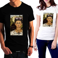 Frida Kahlo With Black Cat - Tshirt for man shirt, woman shirt XS / S / M / L / XL / 2XL / 3XL /4XL / 5XL *02*