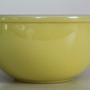 Yellow Fire King Ceramic Mixing Bowl