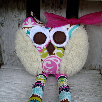 Whimsical Owl Soft Stuffed Animal Toy Plush by OurPlaceToNest