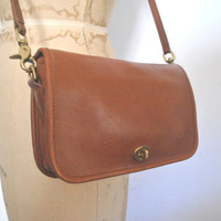 Coach Bag / Brown leather Penny Purse