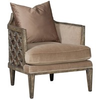 Hooker Furniture Living Room Synergy Pewter & Glam Sheen Jute Accent Arm Chair 300-350018