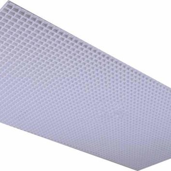 Plaskolite Polystyrene Egg Crate Lighting Diffuser, White, 23-3-4 X 47-3-4 In., 15 Per Case