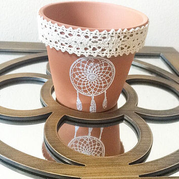 Dream catcher decorative pot planter.