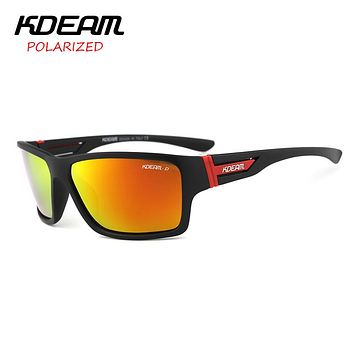Summer Polarized Sunglasses men HD Polaroid lens Exercise Sunglasses Goggles With Hard Box