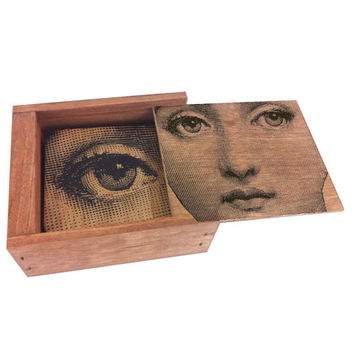 Spitfire Girl 19th Century Woman Wood Coaster Box Set