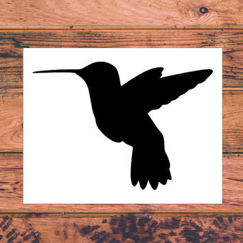 Hummingbird Decal | Cute Hummingbird Decal | Hummingbird Car Decal | Bird Car Decal | Preppy Car Truck Decal | Hummingbird Love | 280