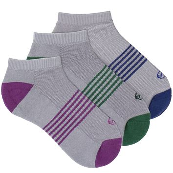 Women's Socks No Show Athletic Comfortable Performance Striped Sock Mix