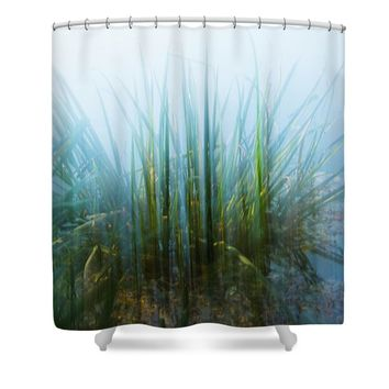 Green Explosion Shower Curtain
