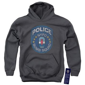 NYPD Kids Hoodie Police Bomb Squad Charcoal Hoody
