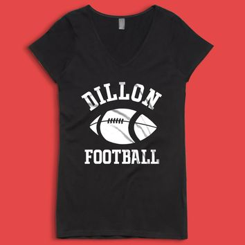 Dillon Panthers Football Friday Night Lights Women'S V Neck