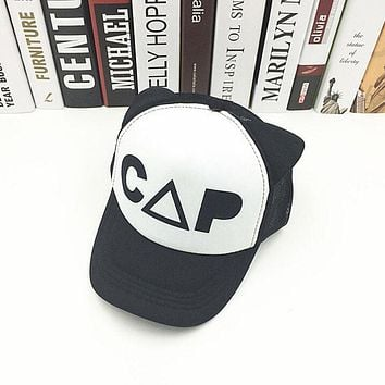 High Quality Cotton Black and White Baseball Cap Cute Ear Summer Mesh Snapback Sun Hip Hop Hat Child Boys and Girls Trucker Caps