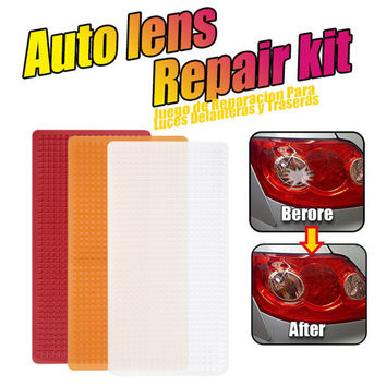 3 Colors Car Motorcycle Light Repair Kit Universal Headlights Taillight Repair Tool Car Light Stickers For Cars Running Lights