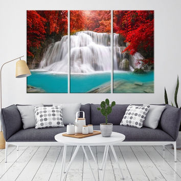 34993 - Forest Wall Art- Autumn Canvas Print- Forest Canvas- Forest Canvas Art- National Art Print- Canvas Print- Large Wall Art-