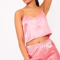 Issie Rose Satin Pyjama Shorts Set