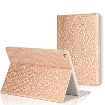 Case Cover for Apple iPad Air 2/iPad 6 Coque PU Leather Flip Smart Cover Bling Bling Luxury Cases for iPad Air 1 Capa Para