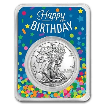 2019 1 oz Silver American Eagle - Birthday Confetti