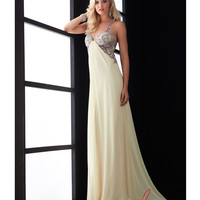 (PRE-ORDER) Jasz Couture 2014 Prom Dresses - Soft Yellow Chiffon & Beaded Sweetheart Prom Gown